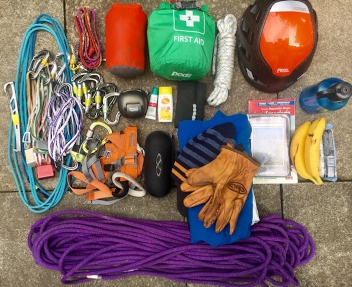 Equipment choices for scrambling adventures